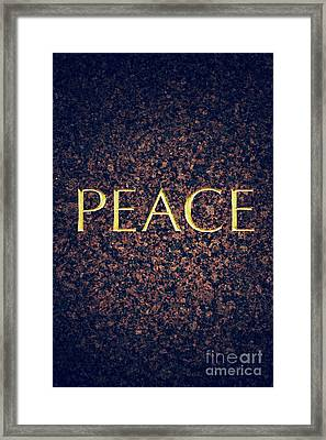 Peace Framed Print by Tim Gainey