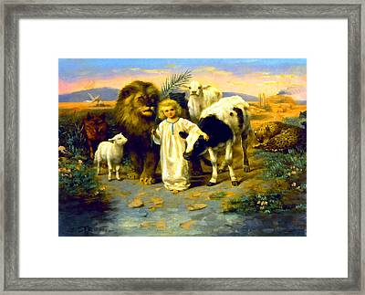 Peace Framed Print by William Strutt