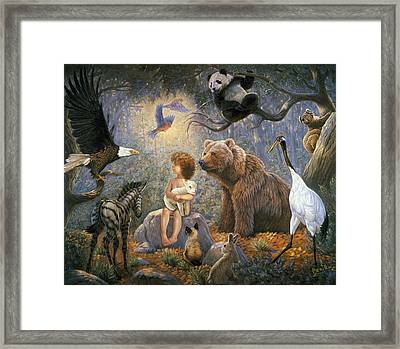 Peaceable Kingdom Framed Print by Gregory Perillo