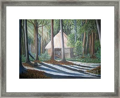 Peaceful Abode Framed Print by Usha Rai