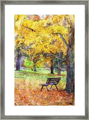 Peaceful Autumn Framed Print by Darren Fisher