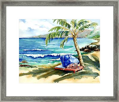 Peaceful Bay Framed Print by Lisa Bunge
