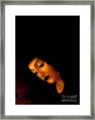 Peaceful Black Madonna Framed Print by Genevieve Esson