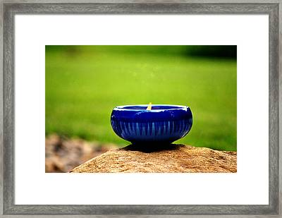 Peaceful Blue  Framed Print by Chastity Hoff