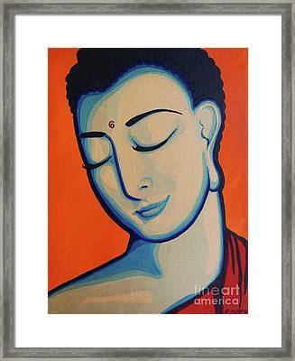 Peaceful Buddha Framed Print by Rebecca Mott