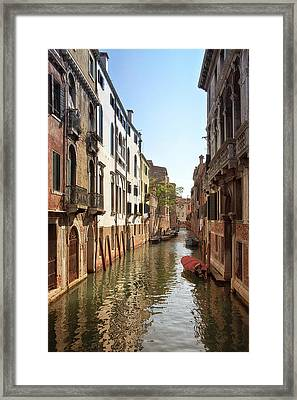 Peaceful Canal Framed Print by Kim Andelkovic