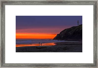 Peaceful Evening Framed Print by Robert Bales