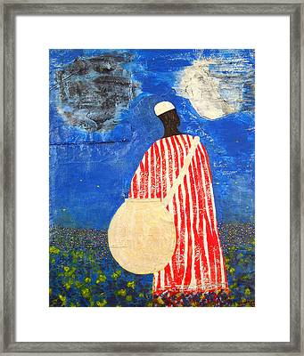 Peaceful Garden Framed Print by Duwayne Washington
