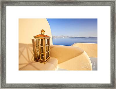 Peaceful Hour Framed Print by Aiolos Greek Collections