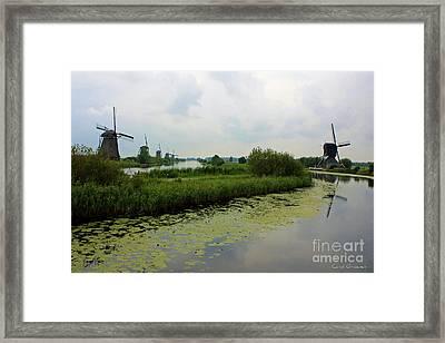Peaceful Kinderdijk Framed Print by Carol Groenen