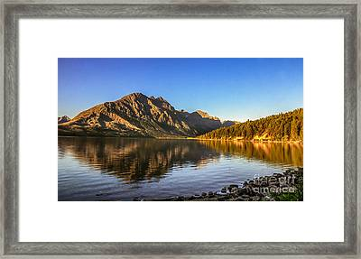 Peaceful Morning On St. Mary Lake Framed Print by Robert Bales