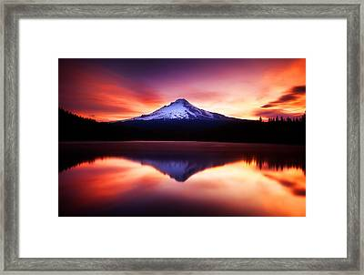 Peaceful Morning On The Lake Framed Print by Darren  White
