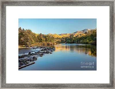 Peaceful River Framed Print by Robert Bales