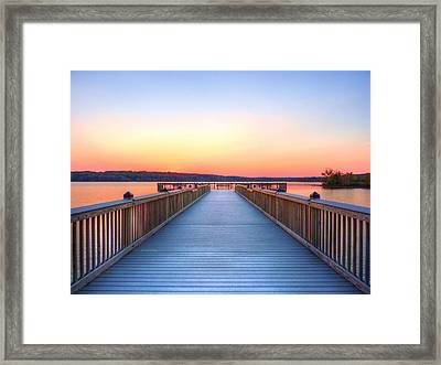 Peaceful Spot Framed Print by JC Findley