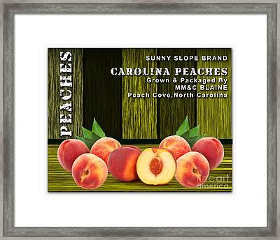 Peach Farm Framed Print by Marvin Blaine