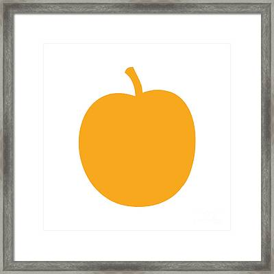 Peach Framed Print by Jackie Farnsworth
