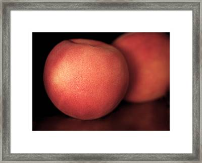 Peach Framed Print by Rona Black