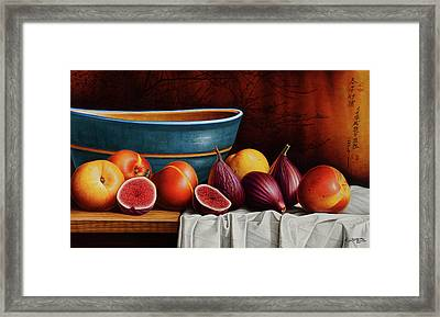 Peaches And Figs Framed Print by Horacio Cardozo