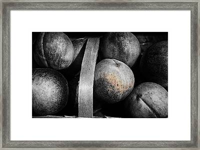 Peaches In A Basket Framed Print by William Jones