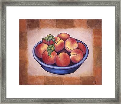 Peaches Framed Print by Linda Mears