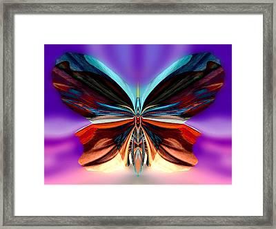 Peachy Rumpleglow Framed Print by Raymel Garcia