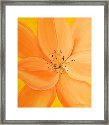 Peachy Summer Framed Print by Maria Williams