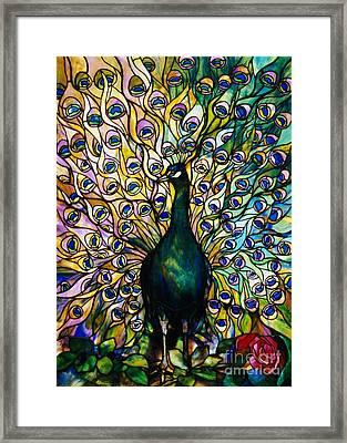 Peacock Framed Print by American School