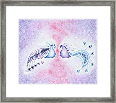 Peacock Dance Framed Print by Keiko Katsuta