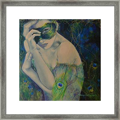 Peacock Enigma Framed Print by Dorina  Costras