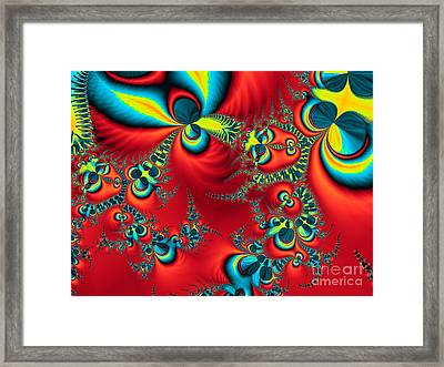 Peacock Fractal Framed Print by Ian Mitchell