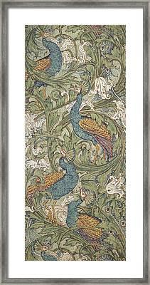 Peacock Garden Wallpaper Framed Print by Walter Crane