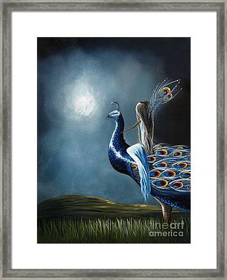 Peacock Princess By Shawna Erback Framed Print by Shawna Erback