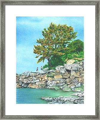 Peaks Island Framed Print by Troy Levesque
