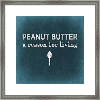 Peanut Butter Framed Print by Flo Karp