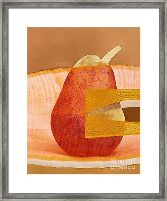 Pear 44 Framed Print by Elena Nosyreva