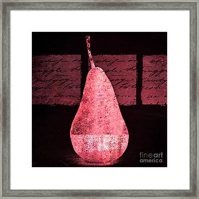 Pear 45 Negative Framed Print by Elena Nosyreva
