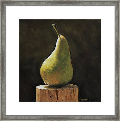Pear Framed Print by Joanne Grant