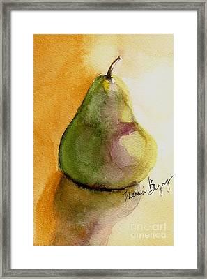 Pear Framed Print by Marcia Breznay