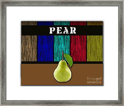 Pear Framed Print by Marvin Blaine