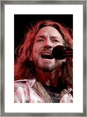 Pearl Jam Framed Print by Concert Photos