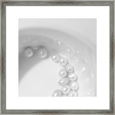 Pearls On A Cup Framed Print by Stelios Kleanthous