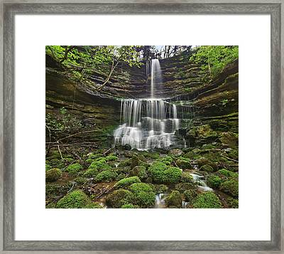 Pearly Springs Waterfall Buffalo Framed Print by Tim Fitzharris