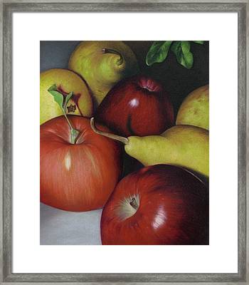 Pears And Apples Framed Print by Natasha Denger