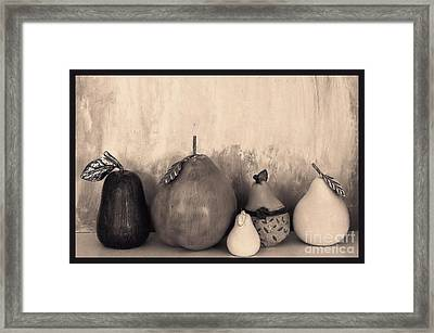 Pears And Pears Framed Print by Marsha Heiken