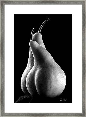 Pears Can Be Sexy Too Framed Print by Frederic A Reinecke