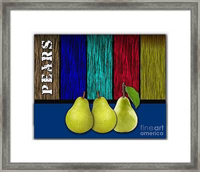 Pears Framed Print by Marvin Blaine