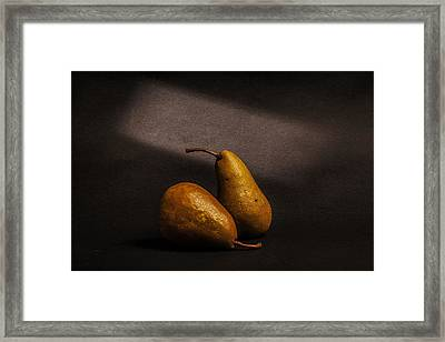 Pears Framed Print by Peter Tellone