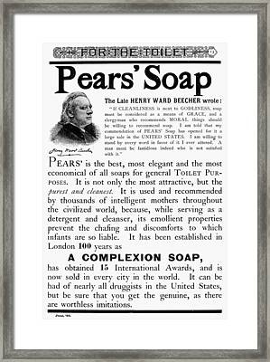 Pears' Soap Ad, 1889 Framed Print by Granger