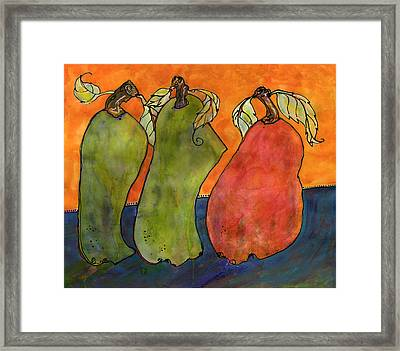 Pears Surrealism Art Framed Print by Blenda Studio