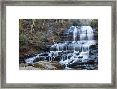 Pearsons Falls Framed Print by Chris Flees